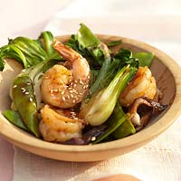 Cambodian Food Recipes Bok Choy with Chicken and Shrimp