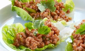 Cambodian food Recipes - Pork Lettuce Wraps