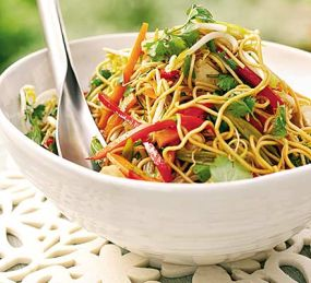 Cambodian food stir fried noodles