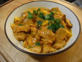 Cambodian Food Recipes coconut curry chicken and pumpkin